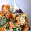Süßkartoffel Batate Buttermlich Koriander Salat Buttermilch Dressing
