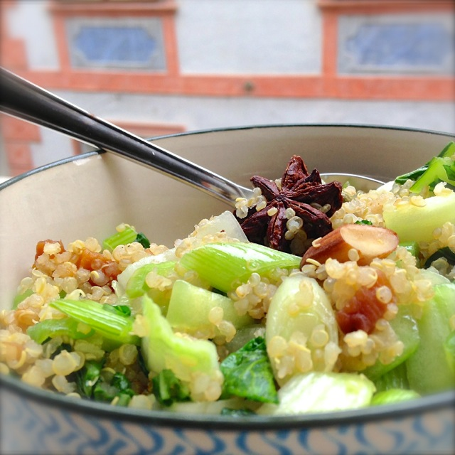 Pak Choi, Quinoa, low carb, diet, Diät,