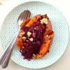 süßkatoffel, Rotkraut, Blaukraut, red cabbage, cranberries, walnuts, Walnuss, vegan, low carb