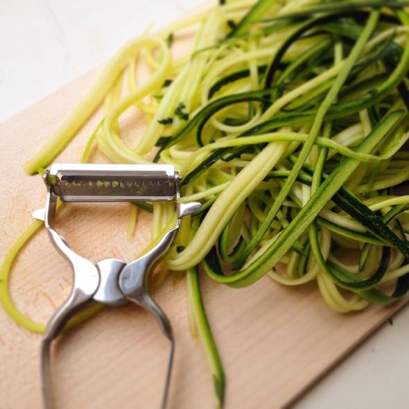 Schwarzer Reis, Zucchini-Nudeln, Zoodles, Ricetti, No Tomato Sauce, histaminarm, vegan, glutenfrei, lowcarb