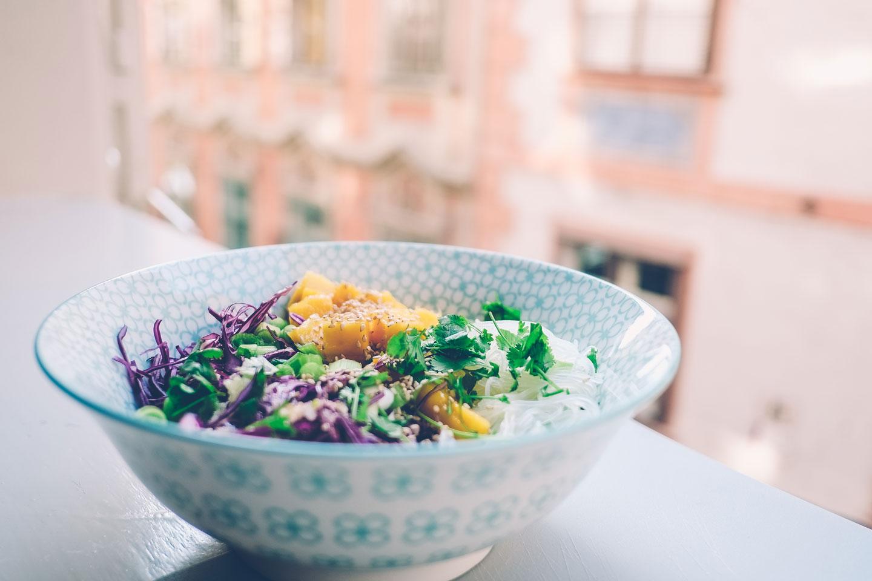 food blog, glasnudelsalat