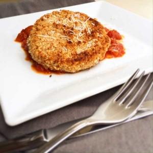 Sellerieschnitzel, Tomatensauce, vegetarisch, veggie, glutenfrei