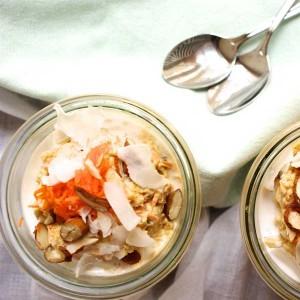 karottenkuchen, foodblog, graz, veggie, overnight oats, glutenfrei, haferflocken, carrot cake, kokos, coconut, almonds