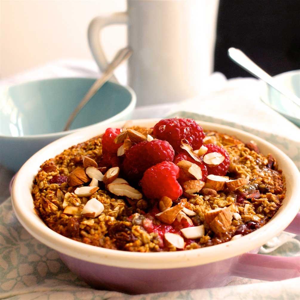 baked oats, müsli, often, vegan, veggie, foodfreshion, food blog, food blogger, graz, himbeeren, haferflocken