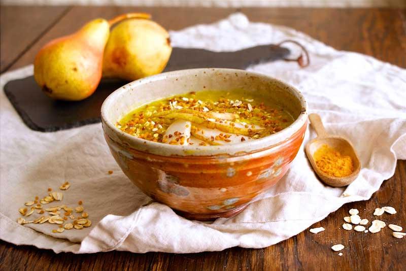 food blog Österreich, porridge, veganer foodblog, vegan food blog, vegetarisch, kurkuma, haferschleim, kurkuma-porridge